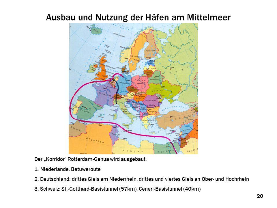 Ausbau und Nutzung der Häfen am Mittelmeer