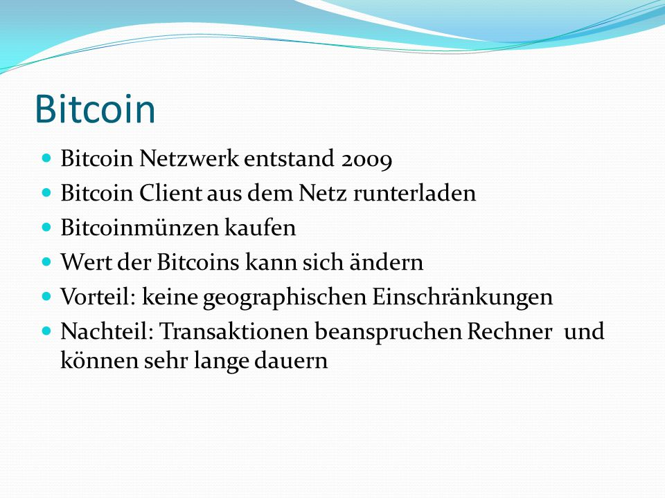 Bitcoin Bitcoin Netzwerk entstand 2009