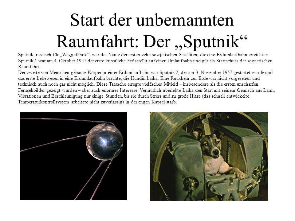 """Start der unbemannten Raumfahrt: Der """"Sputnik"""