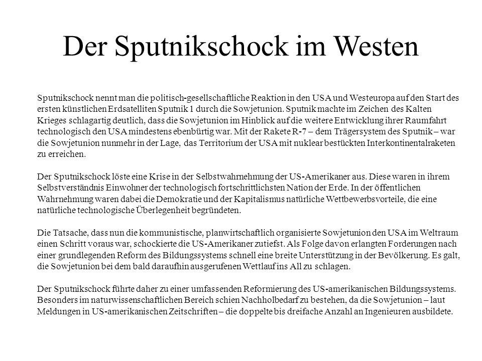 Der Sputnikschock im Westen