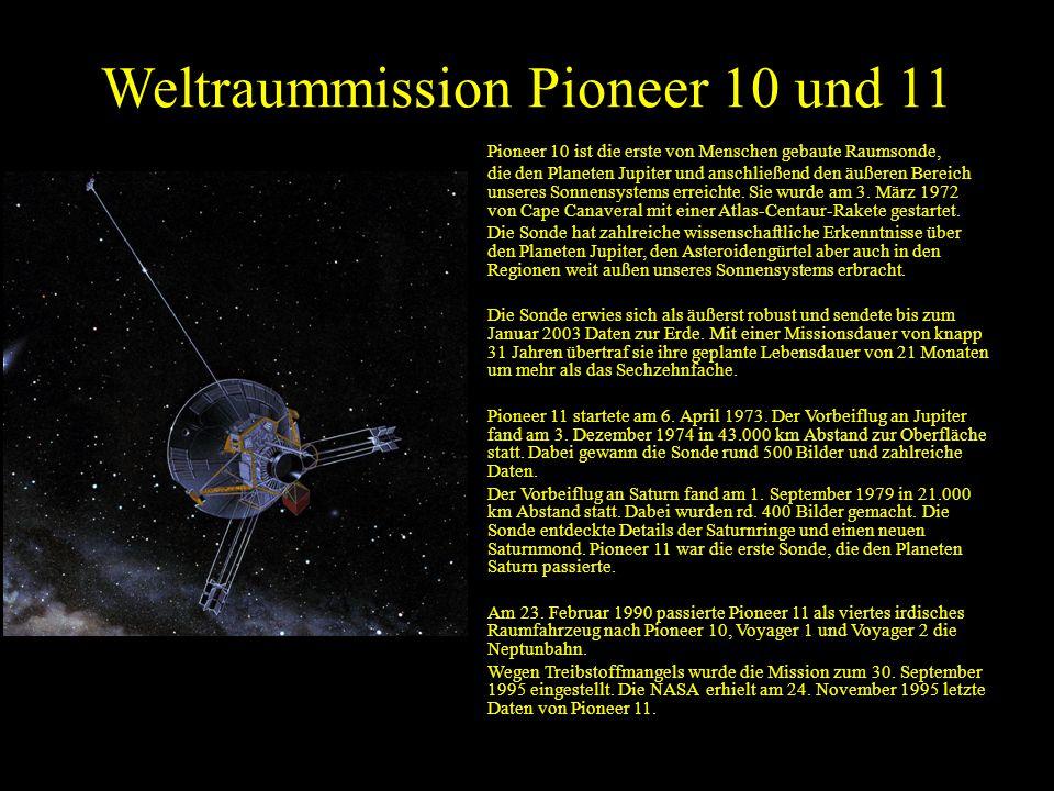 Weltraummission Pioneer 10 und 11