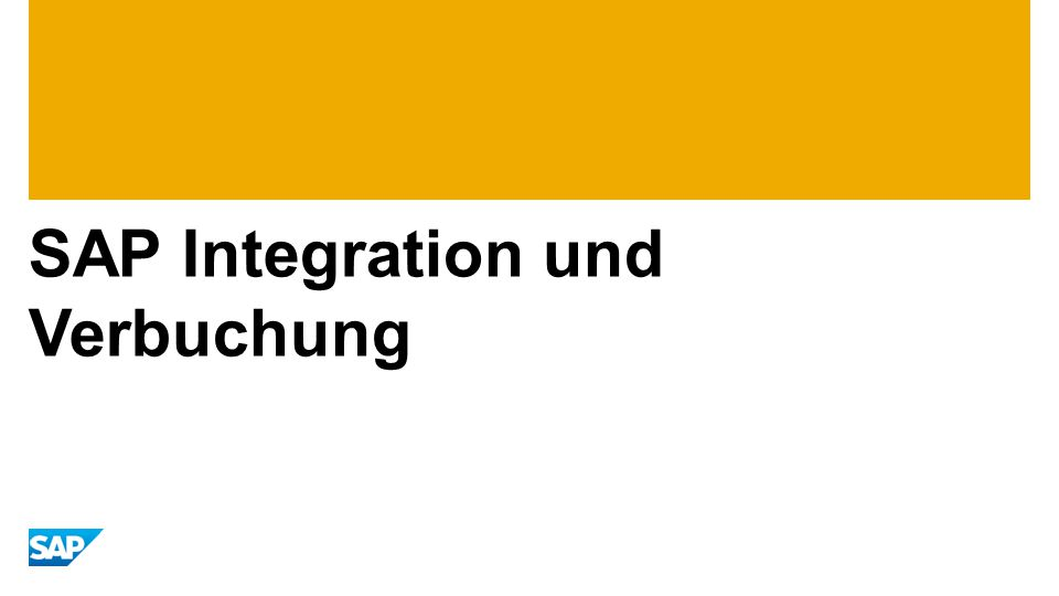 SAP Integration und Verbuchung