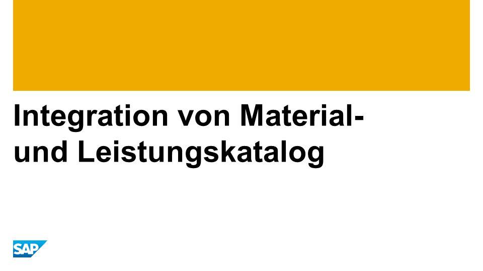 Integration von Material- und Leistungskatalog