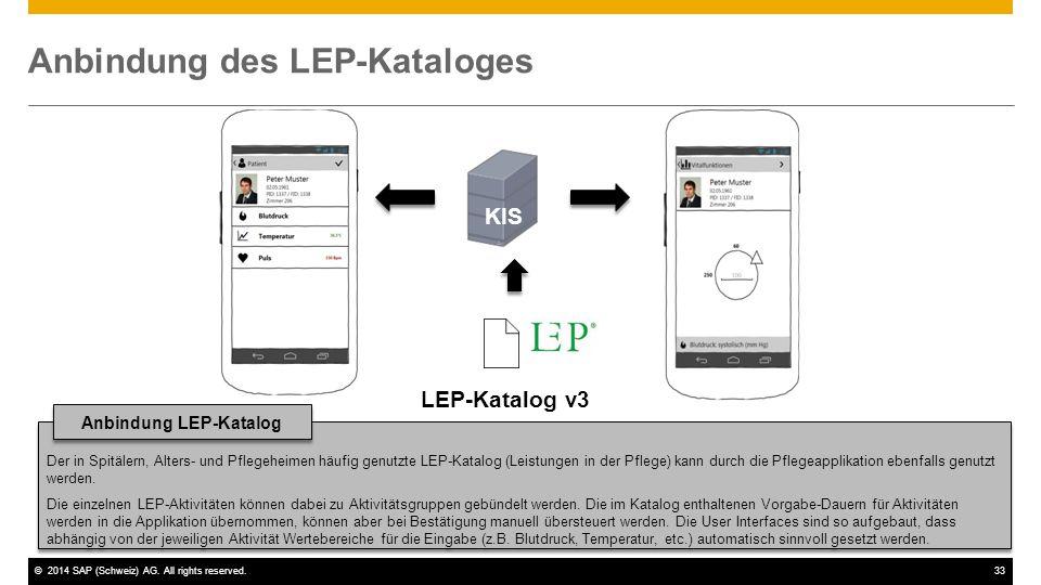 Anbindung des LEP-Kataloges