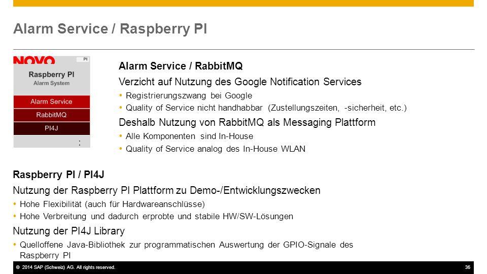 Alarm Service / Raspberry PI