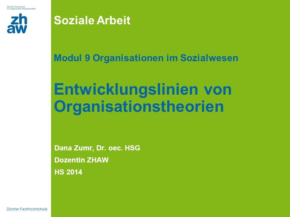 Dana Zumr, Dr. oec. HSG Dozentin ZHAW HS 2014