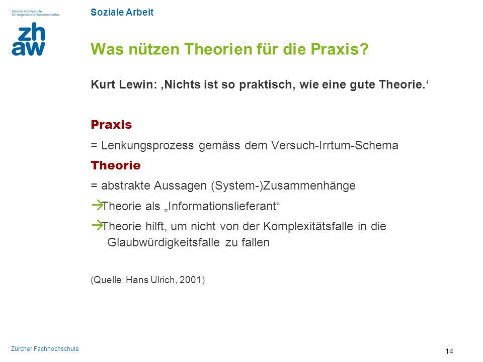 Was nützen Theorien für die Praxis