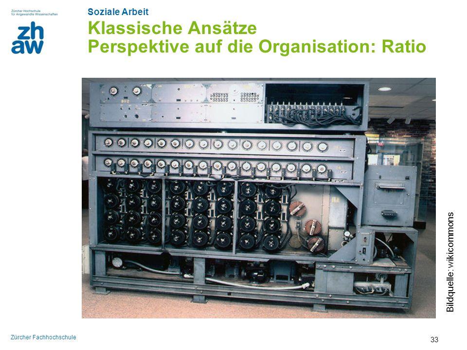 Klassische Ansätze Perspektive auf die Organisation: Ratio