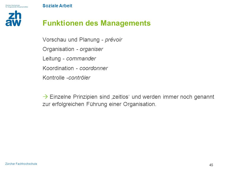 Funktionen des Managements