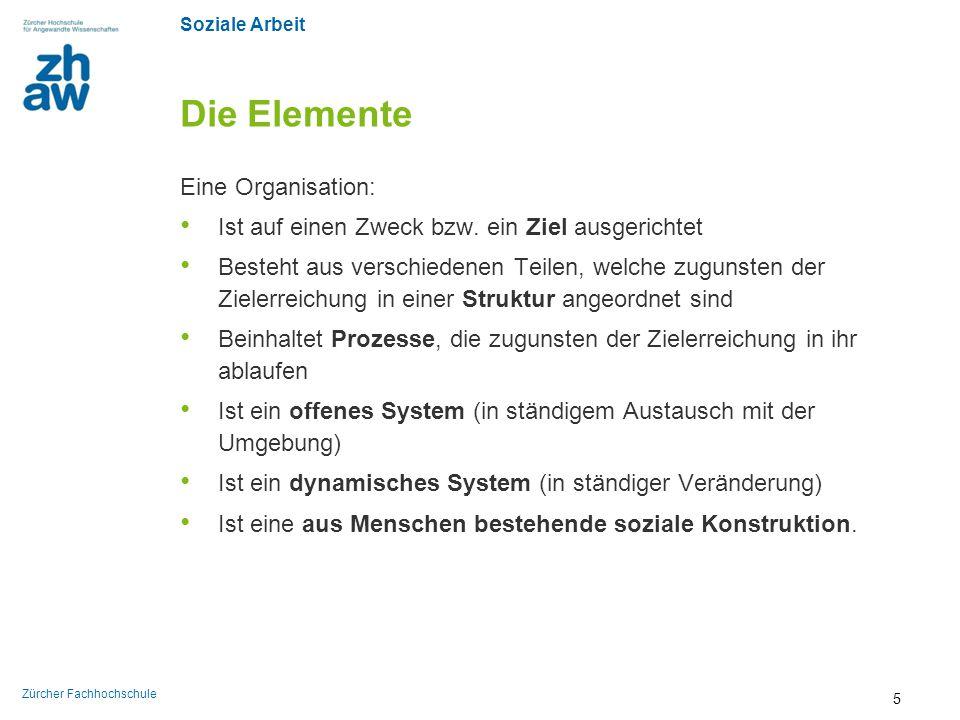Die Elemente Eine Organisation: