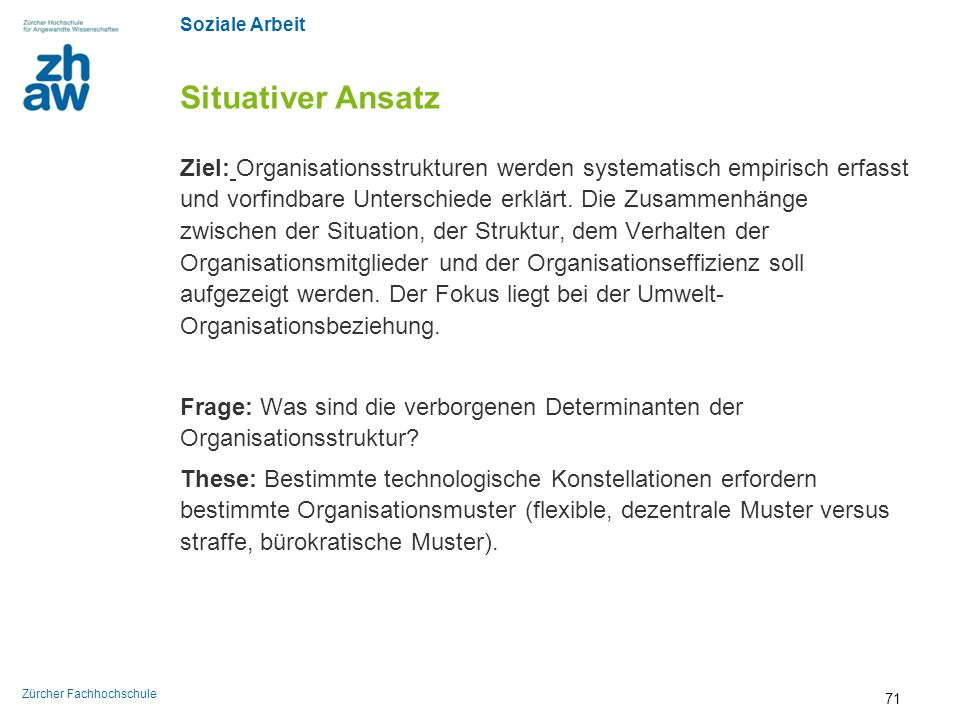 Situativer Ansatz