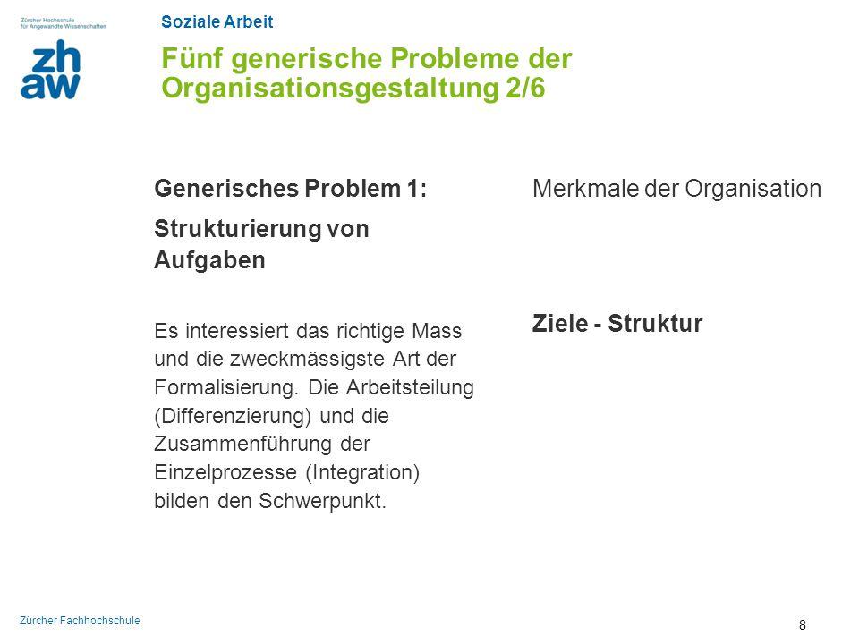 Fünf generische Probleme der Organisationsgestaltung 2/6