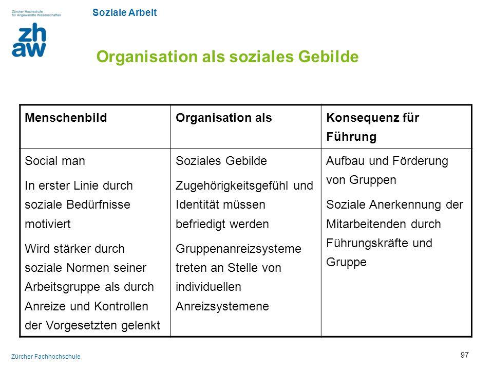 Organisation als soziales Gebilde