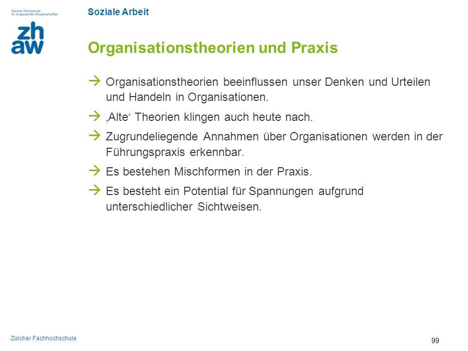 Organisationstheorien und Praxis
