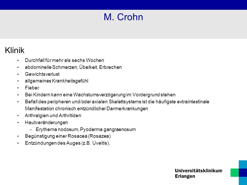 M. Crohn Klinik Durchfall für mehr als sechs Wochen