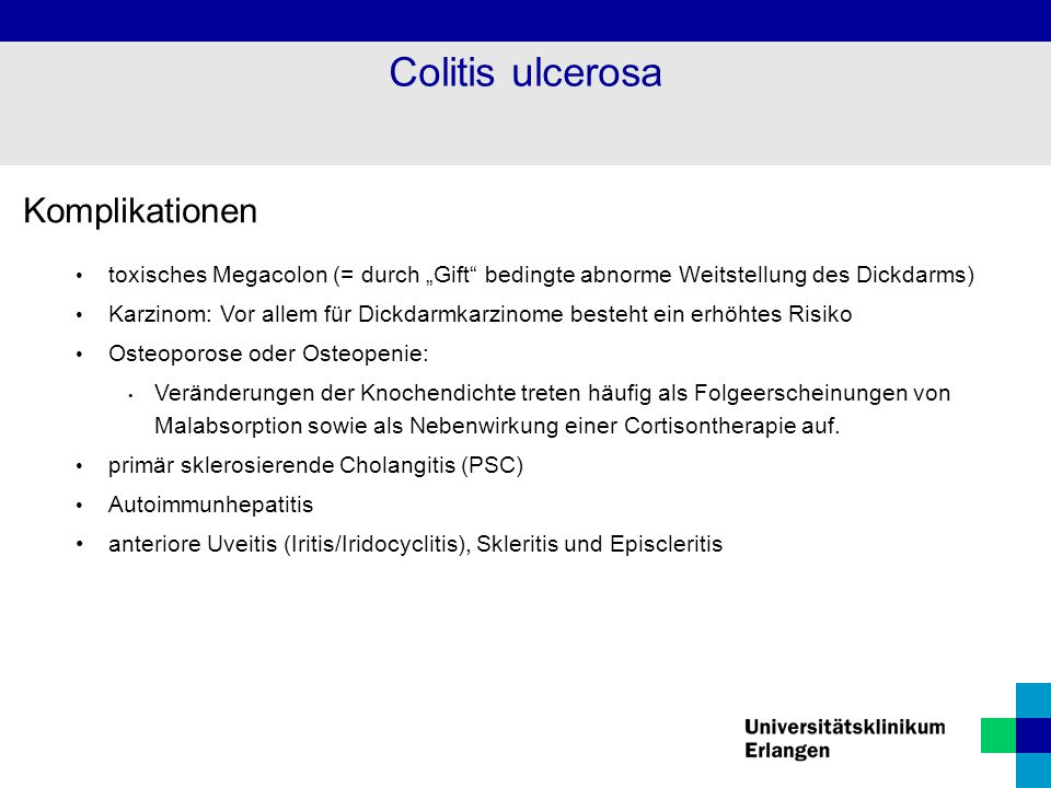 Colitis ulcerosa Komplikationen