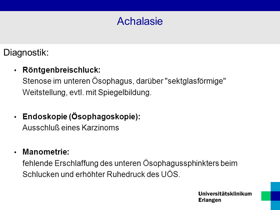 Achalasie Diagnostik:
