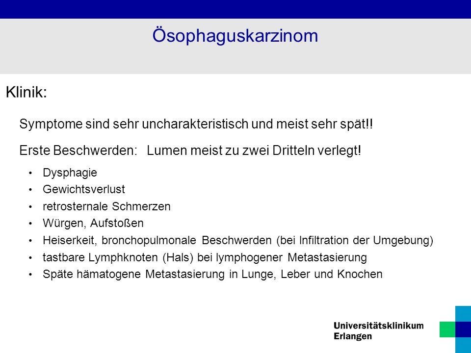 Ösophaguskarzinom Klinik: