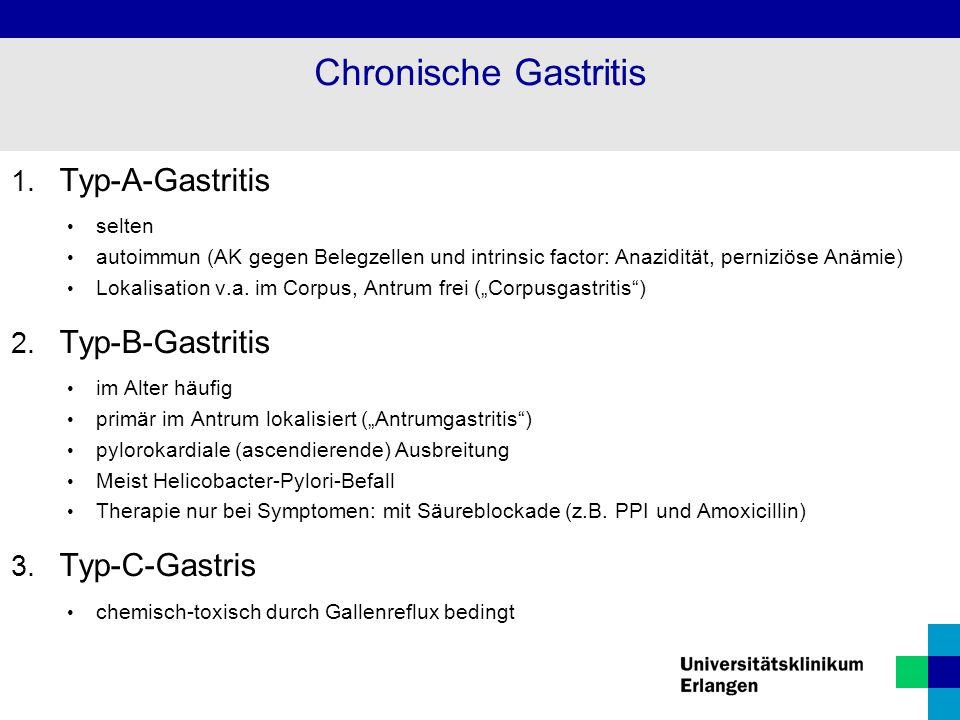 Chronische Gastritis Typ-A-Gastritis Typ-B-Gastritis Typ-C-Gastris