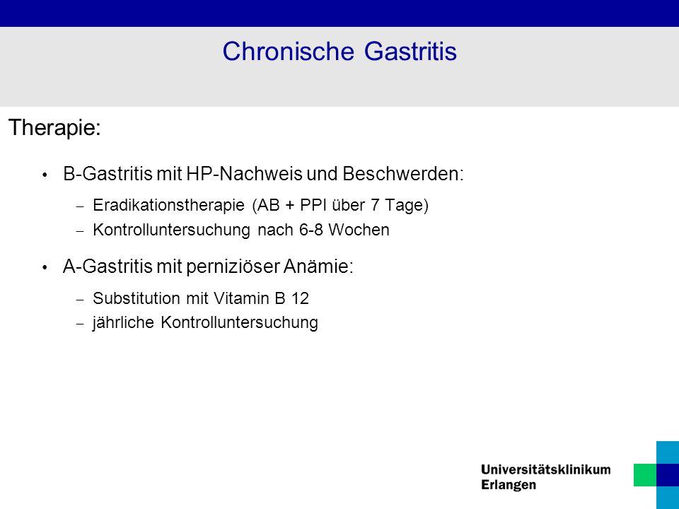 Chronische Gastritis Therapie: