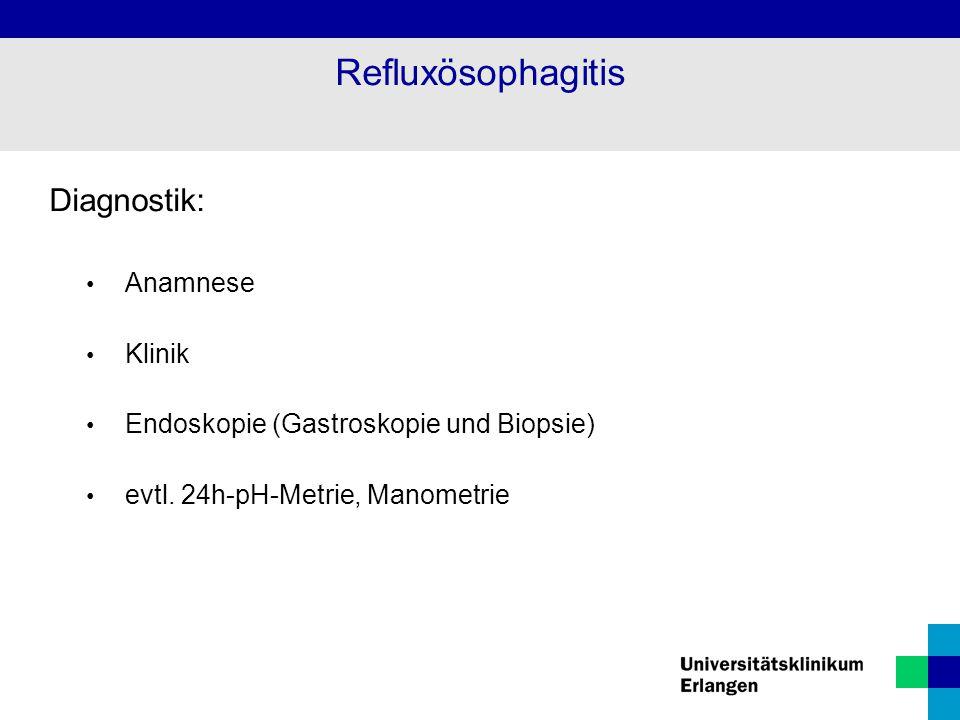 Refluxösophagitis Diagnostik: Anamnese Klinik