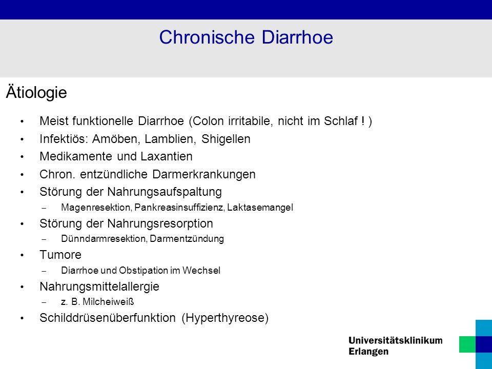 Chronische Diarrhoe Ätiologie