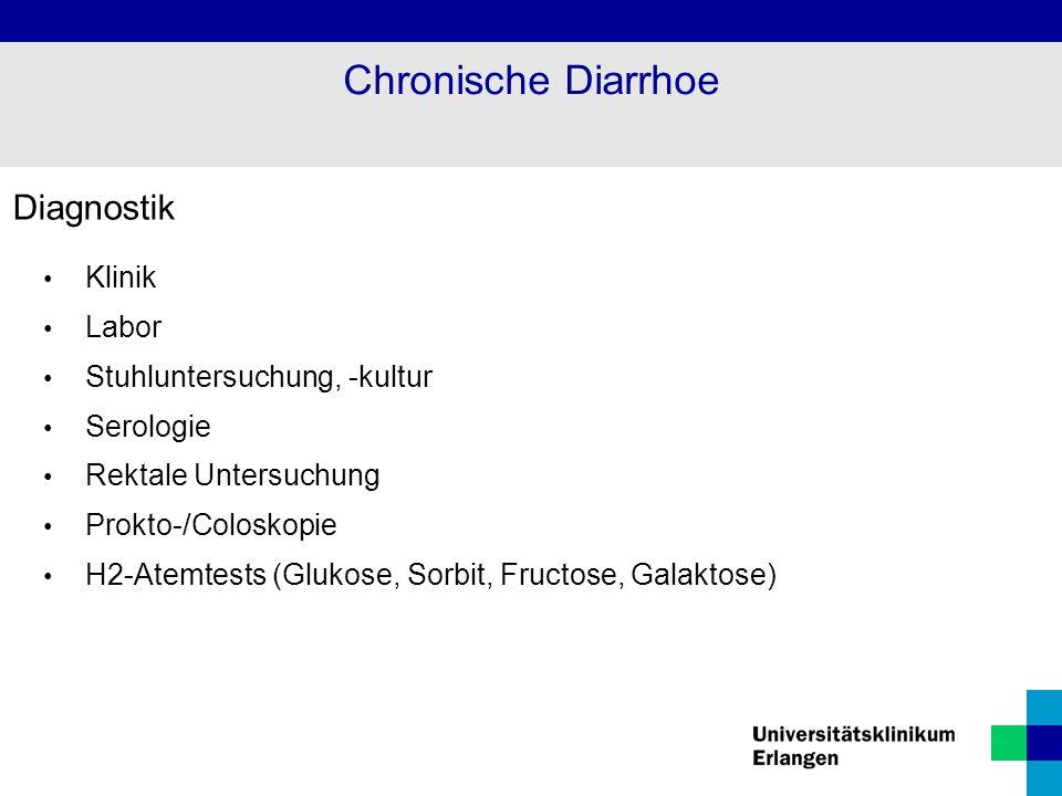 Chronische Diarrhoe Diagnostik Klinik Labor Stuhluntersuchung, -kultur