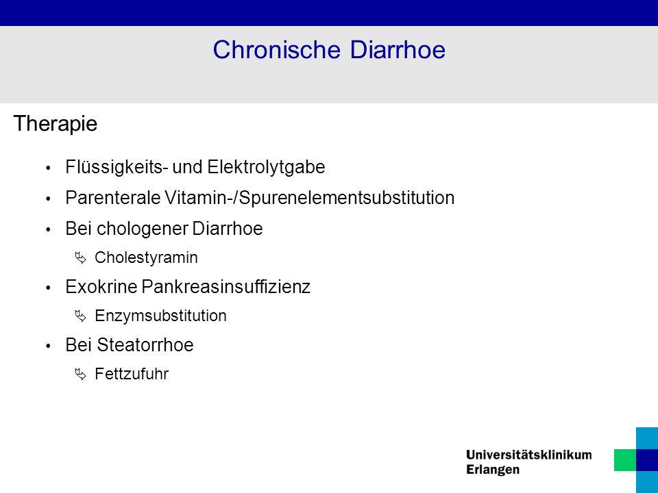 Chronische Diarrhoe Therapie Flüssigkeits- und Elektrolytgabe