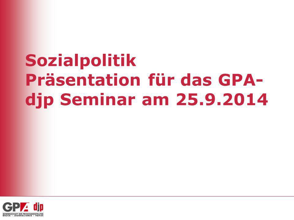 Sozialpolitik Präsentation für das GPA-djp Seminar am 25.9.2014