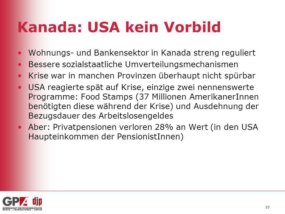 Kanada: USA kein Vorbild