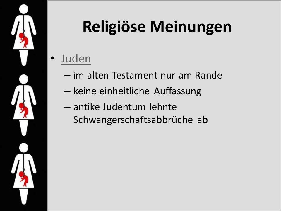 Religiöse Meinungen Juden im alten Testament nur am Rande