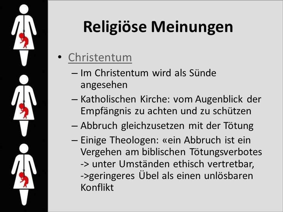Religiöse Meinungen Christentum