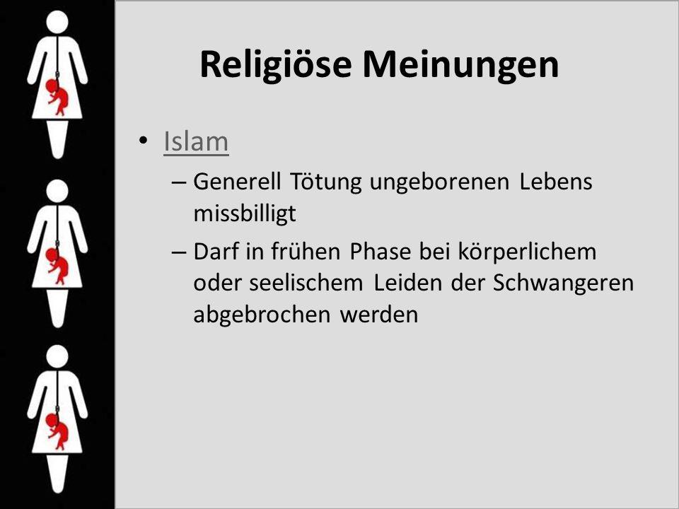Religiöse Meinungen Islam