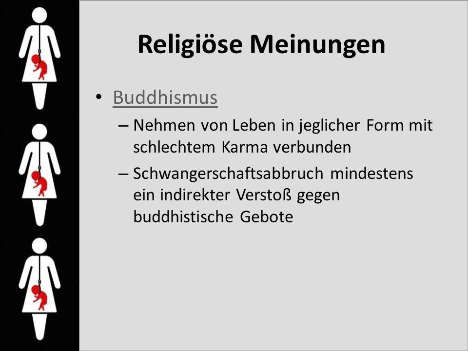 Religiöse Meinungen Buddhismus