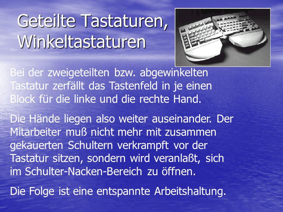 Geteilte Tastaturen, Winkeltastaturen