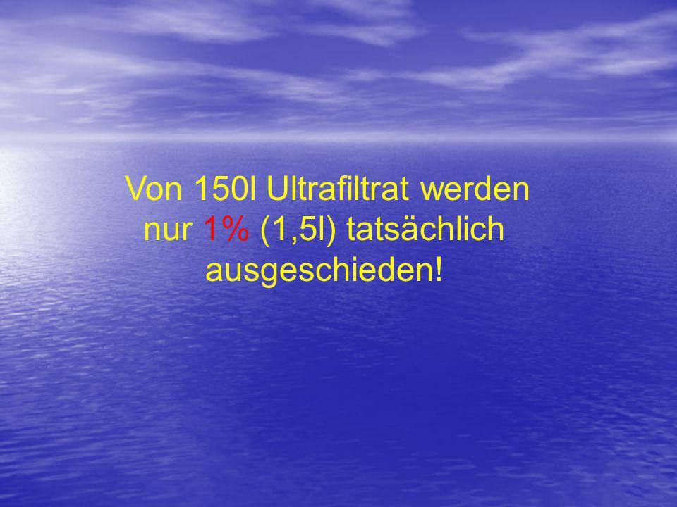 Von 150l Ultrafiltrat werden