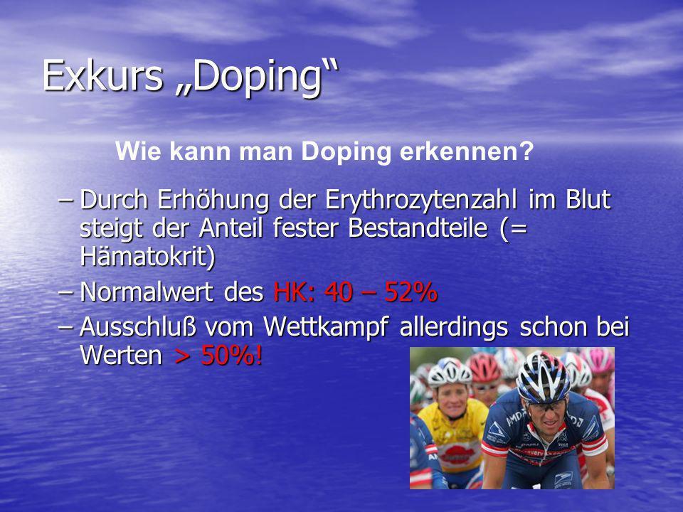 """Exkurs """"Doping Wie kann man Doping erkennen"""