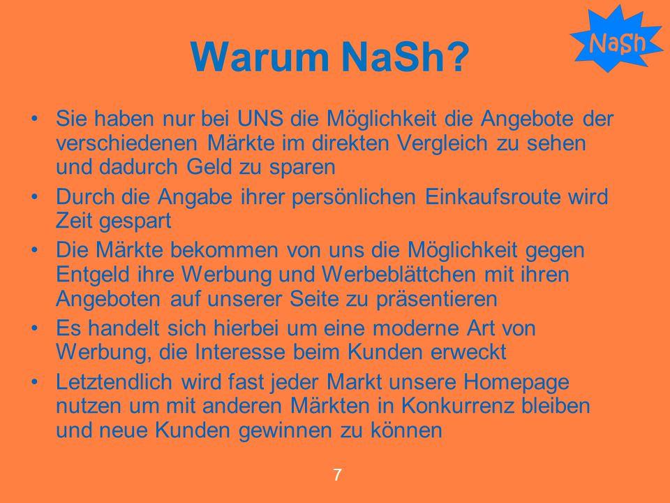 Warum NaSh Sie haben nur bei UNS die Möglichkeit die Angebote der verschiedenen Märkte im direkten Vergleich zu sehen und dadurch Geld zu sparen.
