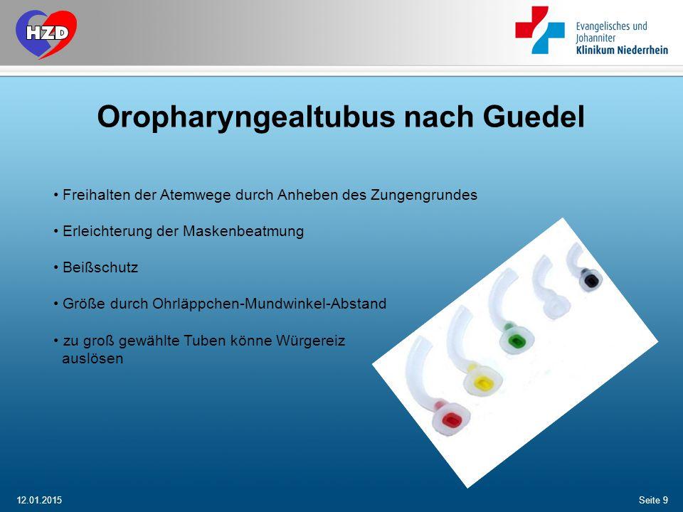 Oropharyngealtubus nach Guedel