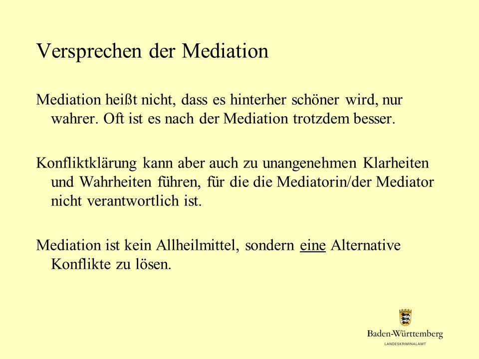 Versprechen der Mediation