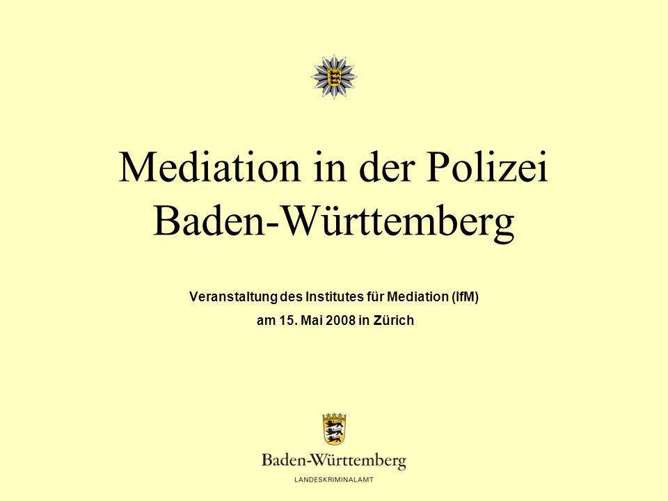 Mediation in der Polizei Baden-Württemberg