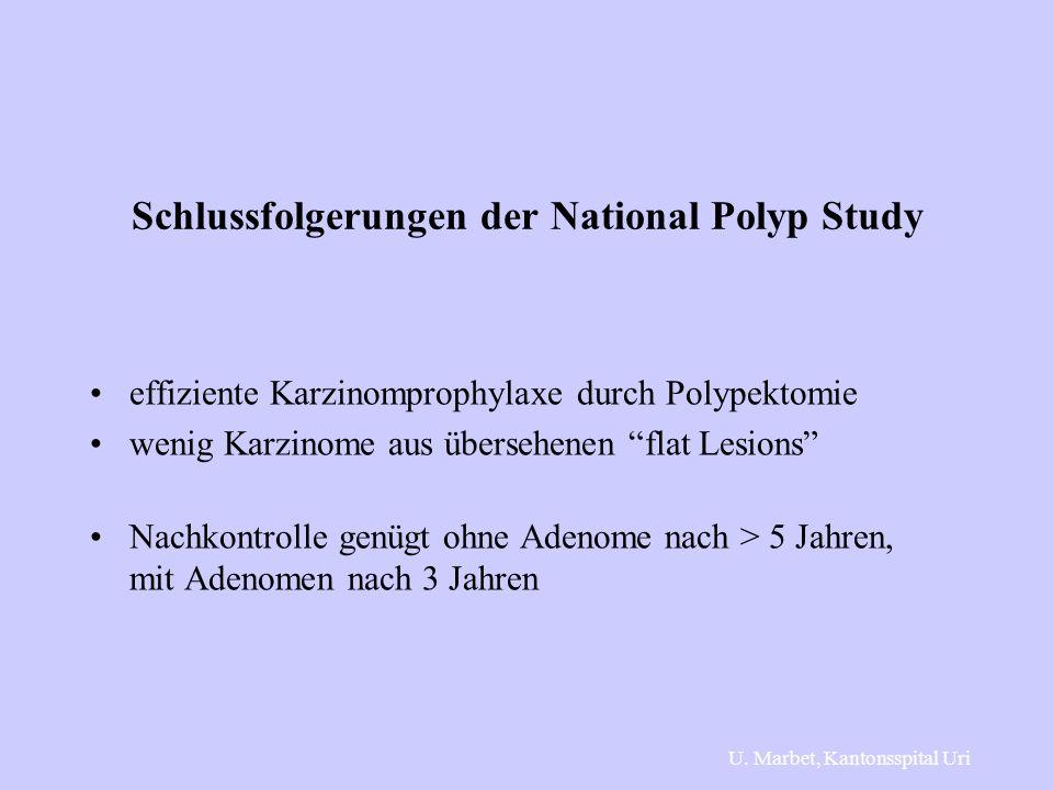 Schlussfolgerungen der National Polyp Study