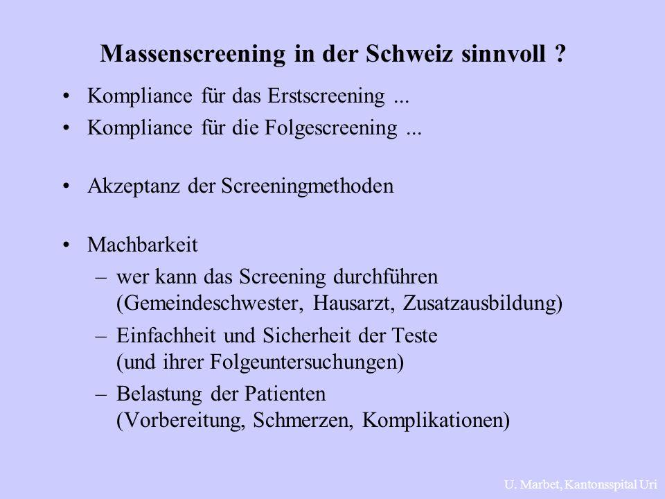 Massenscreening in der Schweiz sinnvoll