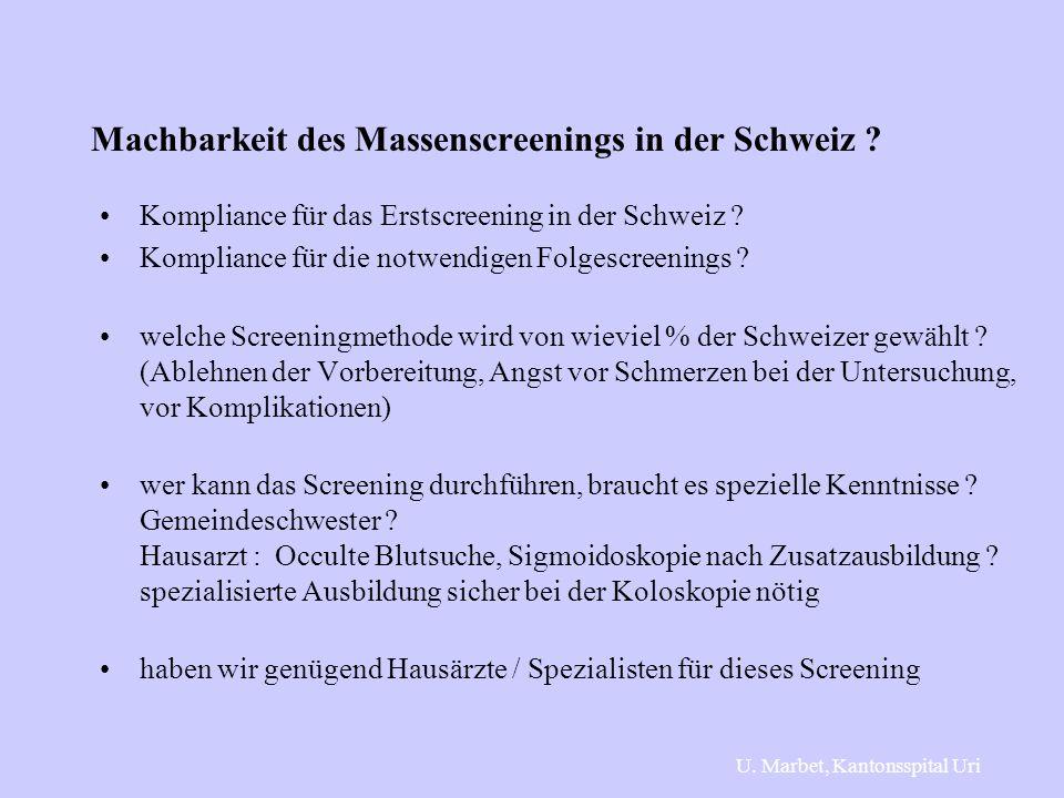 Machbarkeit des Massenscreenings in der Schweiz