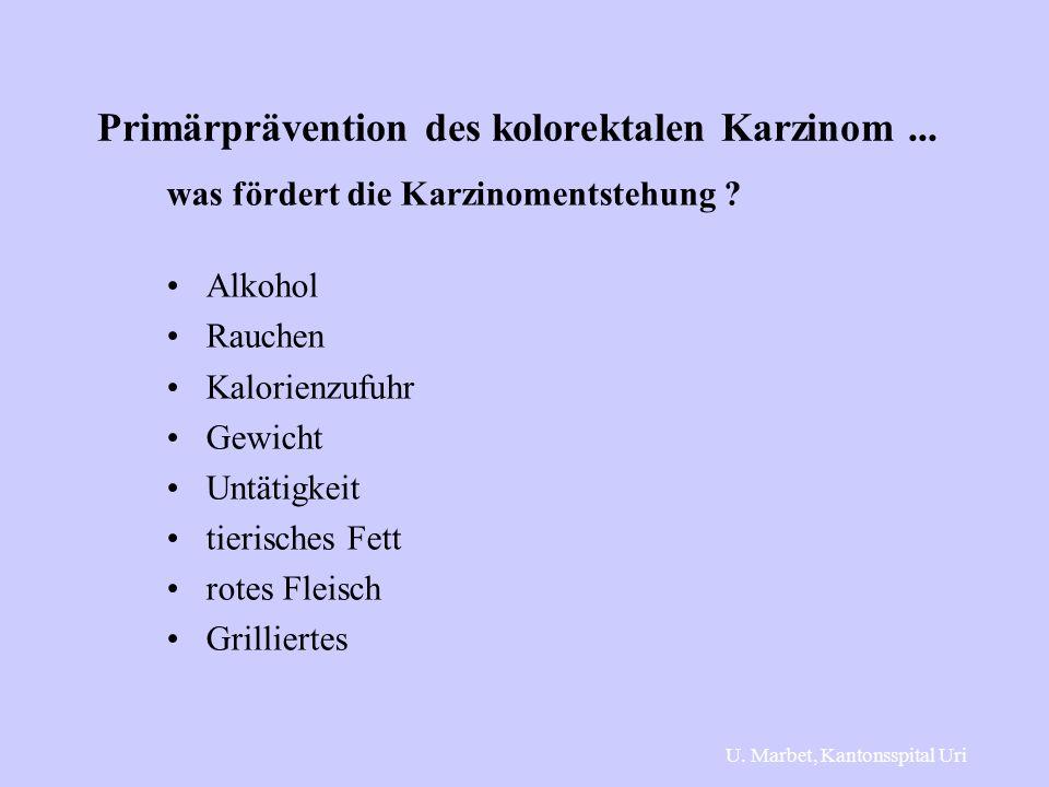 Primärprävention des kolorektalen Karzinom ...