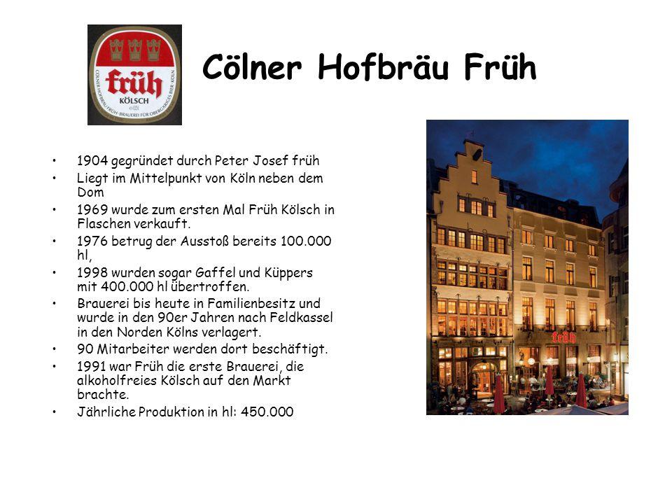 Cölner Hofbräu Früh 1904 gegründet durch Peter Josef früh