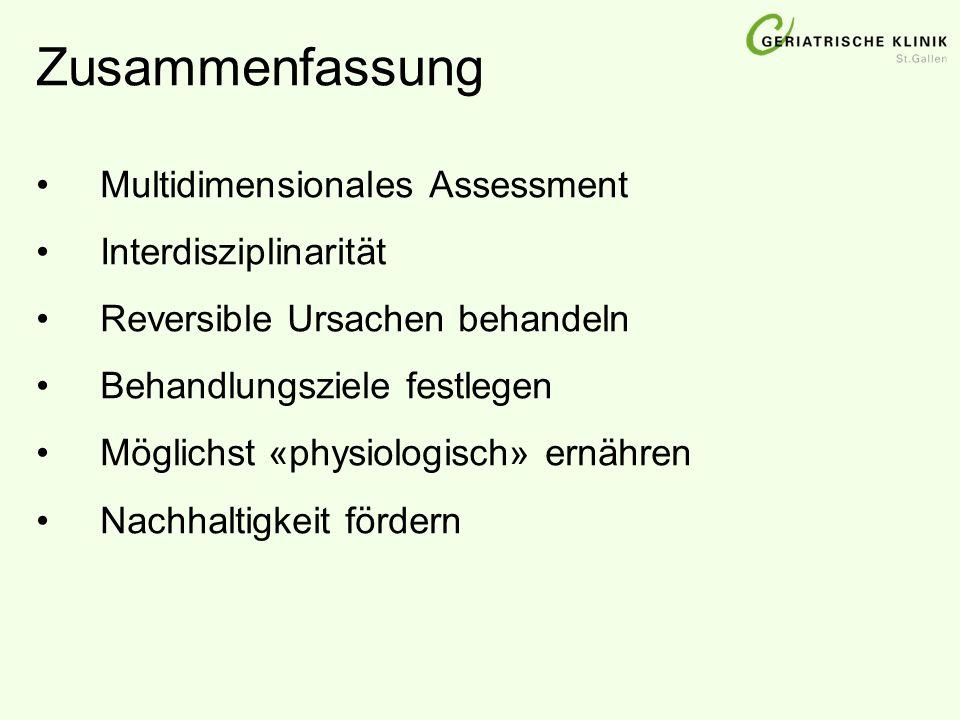 Zusammenfassung Multidimensionales Assessment Interdisziplinarität