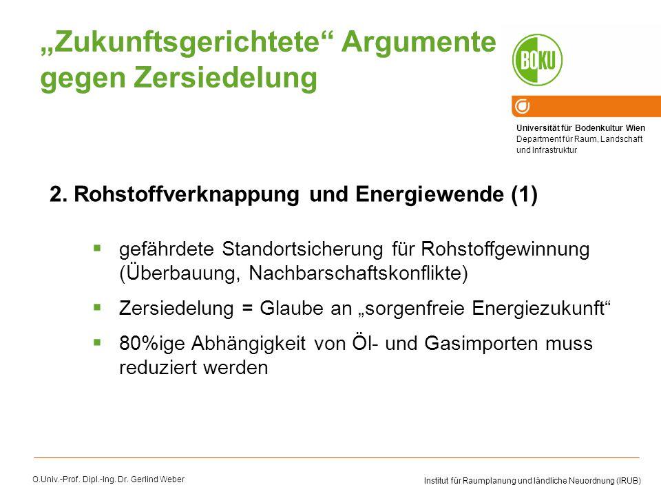 """""""Zukunftsgerichtete Argumente gegen Zersiedelung"""