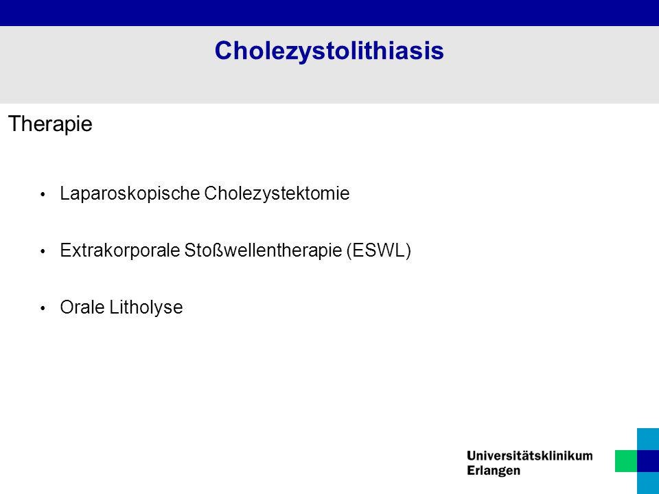 Cholezystolithiasis Therapie Laparoskopische Cholezystektomie