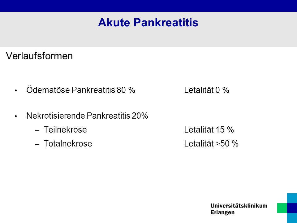 Akute Pankreatitis Verlaufsformen